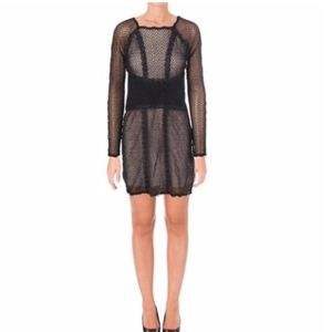 NWT Free People Black Lace Dress